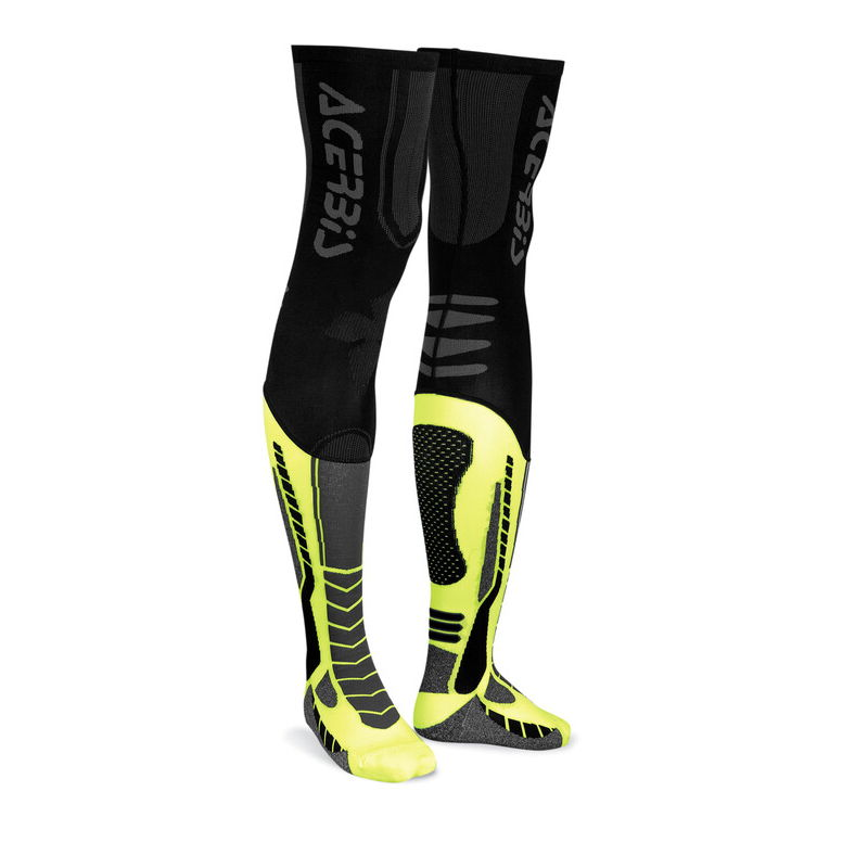 Calze X-leg Pro Nero/giallo Taglia S/m