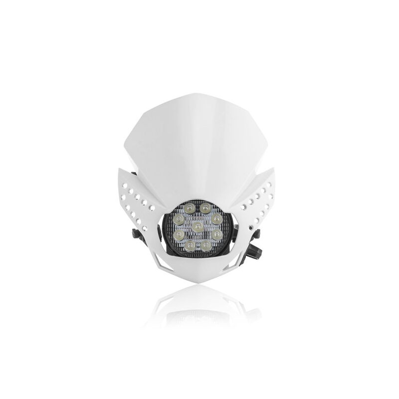 Universal Headlight Mask Fulmine White