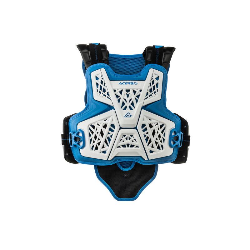 Jump Mx Chest Protector White/blue Bike