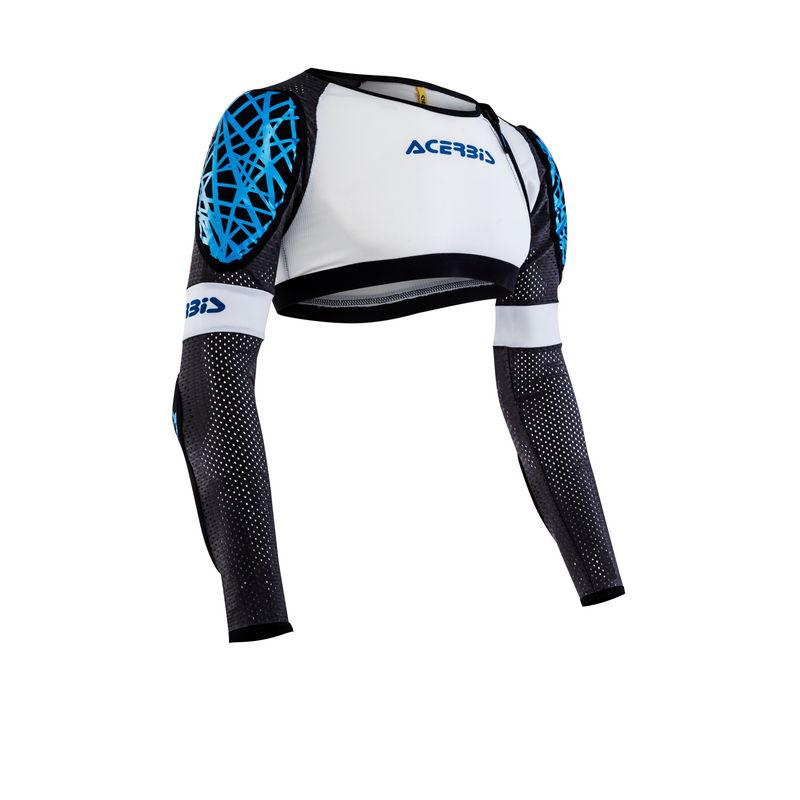 Galaxy Jacket Short Body Armour White/blue Size S/m Bike