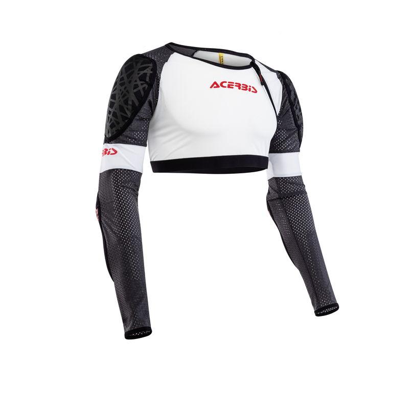 Galaxy Jacket Short Body Armour White/black Size S/m Bike
