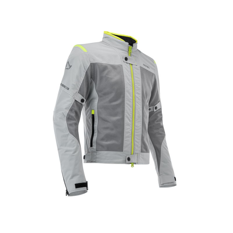 Ce Ramsey My Vented 2.0 Lady Motorbike Jacket Grey/yellow Size Xl