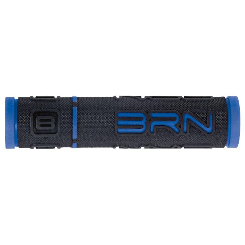 coppia manopole b-one gomma nero / blu