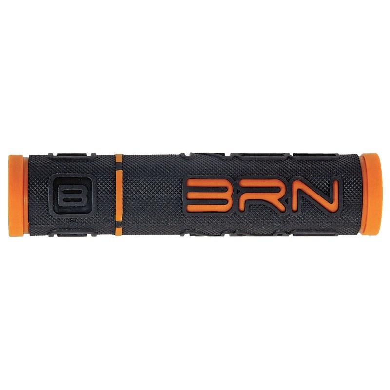 coppia manopole b-one gomma nero / arancione