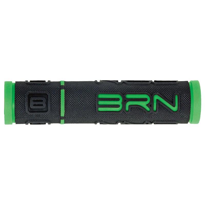 coppia manopole b-one gomma nero / verde