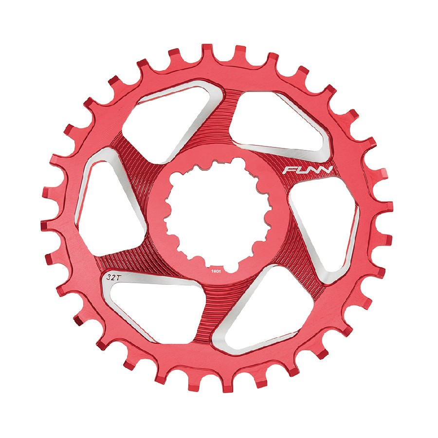 Chainring 34T Solo DX Narrow Wide SRAM Direct Mount 6mm Offset Aluminum Red