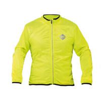windproof long sleeve jacket neon yellow size s yellow