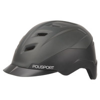 black e'city helmet size m (54-59cm) black