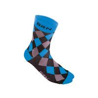 black / blue checkered socks size 39-42 blue