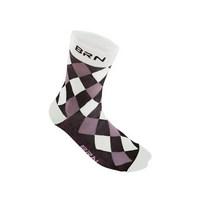 black / white checkered socks size 39-42 white