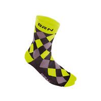 black / yellow checkered socks size 39-42 yellow