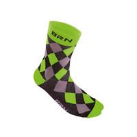 black / green checkered socks size 39-42 green