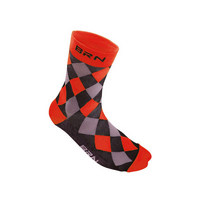 black / red checkered socks size 39-42 red