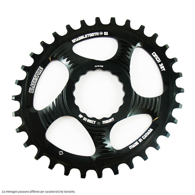 Corona Snaggletooth Ovale 34T per Raceface Cinch 6mm Offset Nero