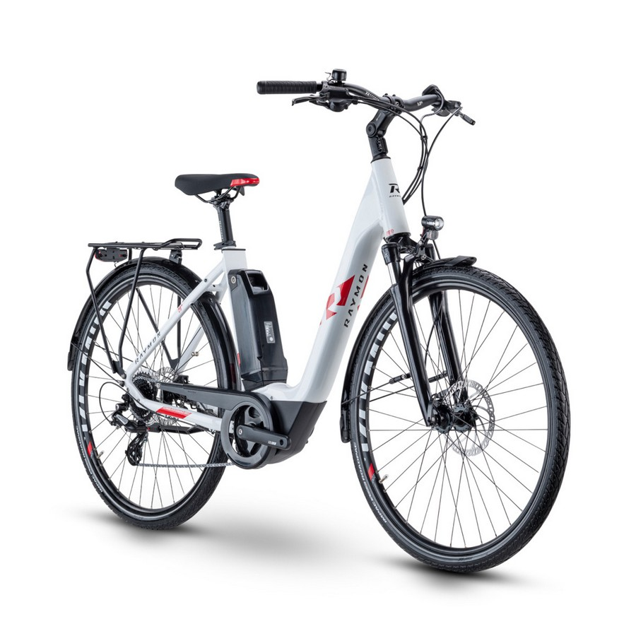 CityRay E 1.0 Wave 28'' 8s 500Wh Yamaha PW-CE White/Red 2021 Size 45