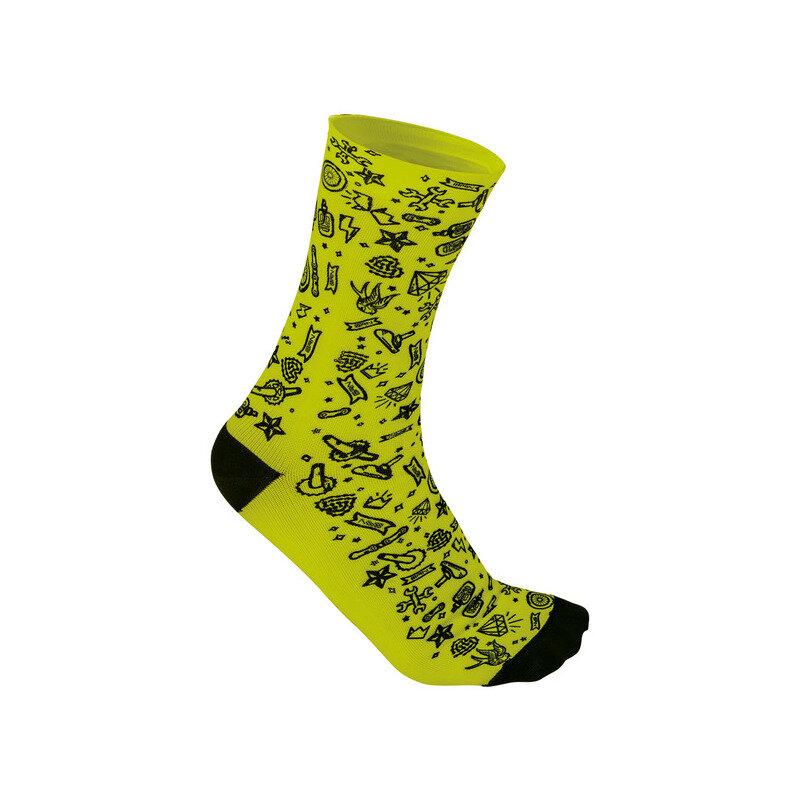 Socks Rocknroll Yellow/Black Size S/M (39-42)