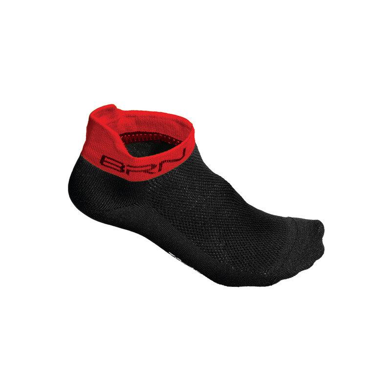 Short Socks Black/Red Size S/M (39-42)