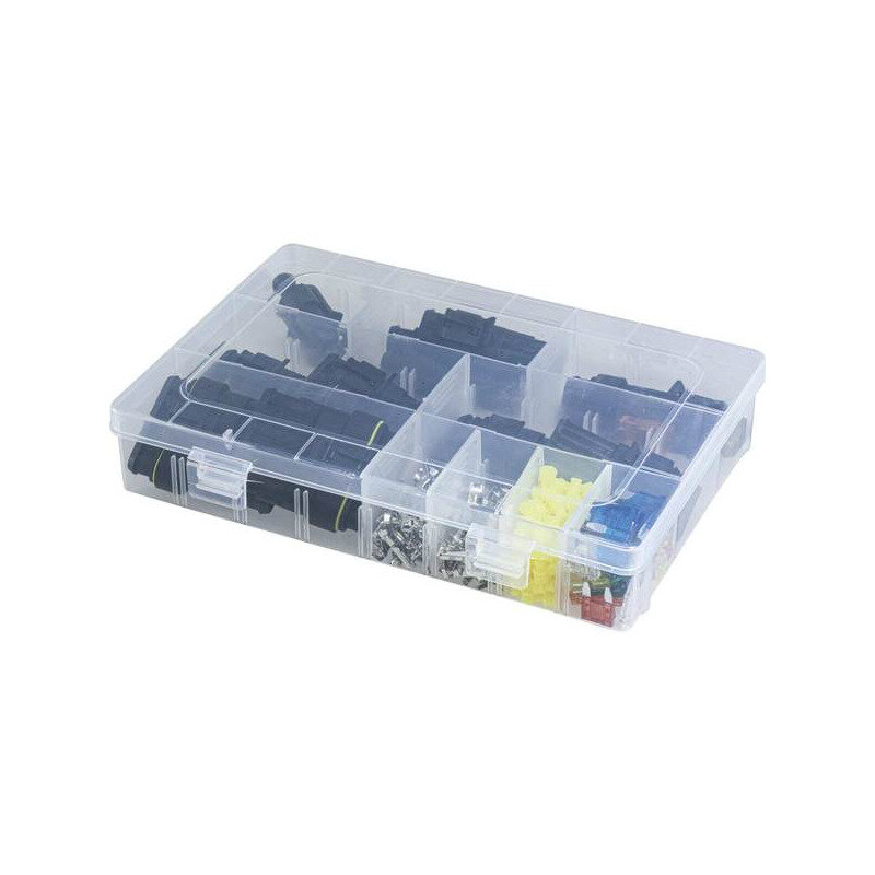 Watertight Connector Set 1/2/3/4/5/6 Pin + Blade Fuses 10/15mm
