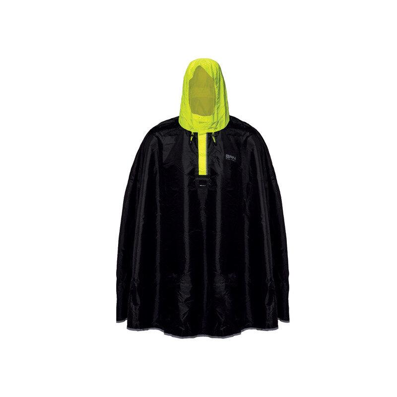 Waterproof Poncho Black/Yellow Size S/M