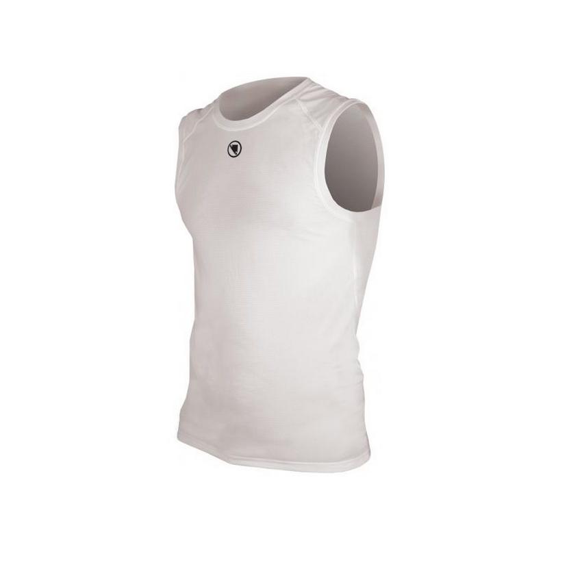 Sleeveless underwear shirt translite white size S