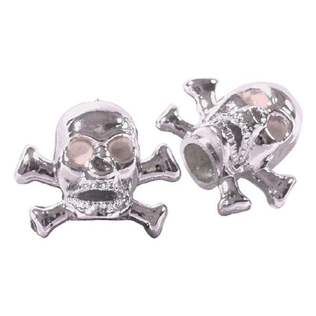 Pair cap Skull bones America / Schrader valve