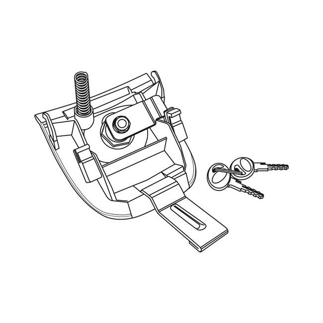 maniglia bauletto sh37 c/chiave
