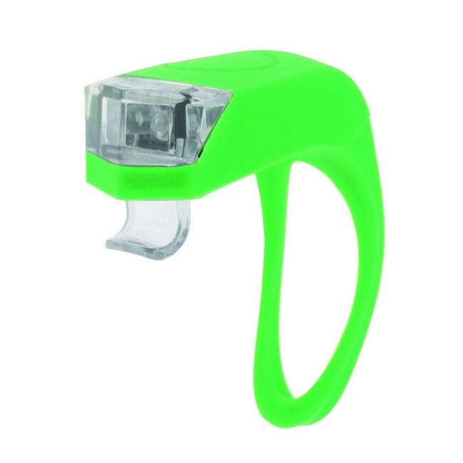 Fanalino anteriore Girino 2 LED silicone batteria verde