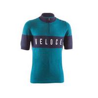 maglia vintage ciclismo eroica veloce taglia m azzurro acqua marina azzurro