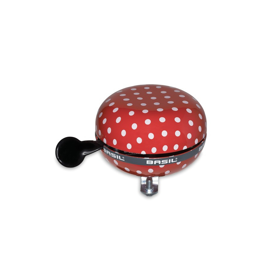 Campanello Ding-Dong Polka Dot pois rosso / bianco 80mm