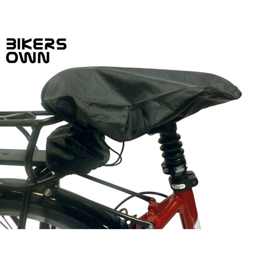 saddle cover for ebike with case4rain rack battery socket protection