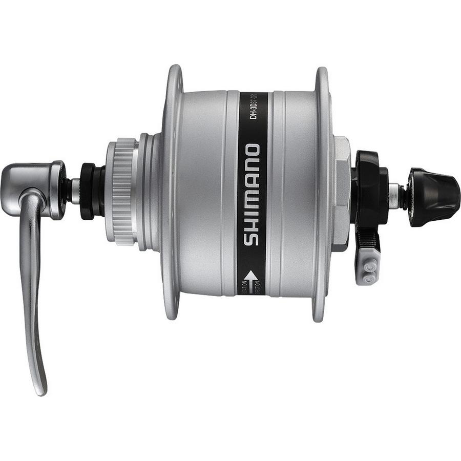 hub dynamo a-dh3d37 3w 100mm 32h centerlock quick release silver