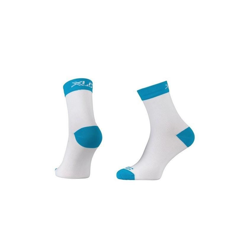 Race Compression Socks CS-C03 White/Blue Size XS (36-38)