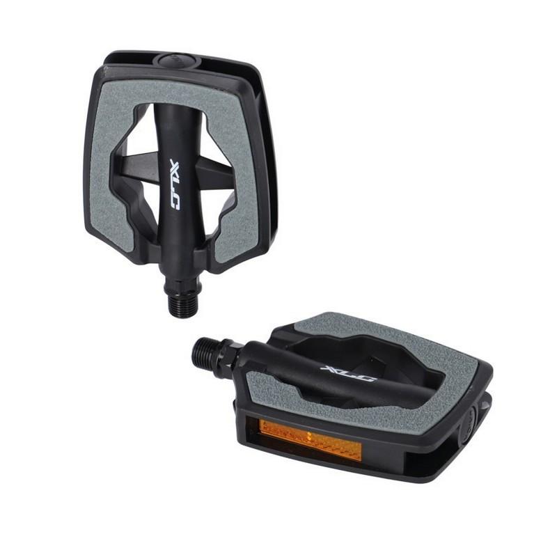 Coppia Pedali City Comfort PD-C22 Plastica Grigio