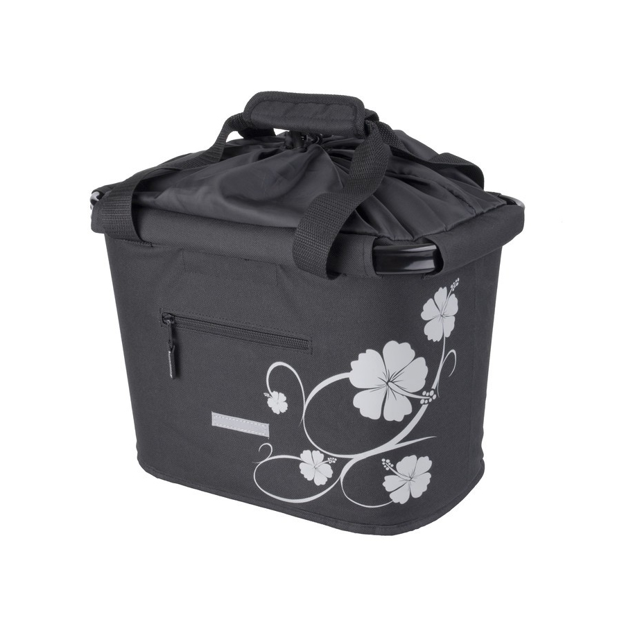 Front basket 20L black / ibiscus with quick release holder