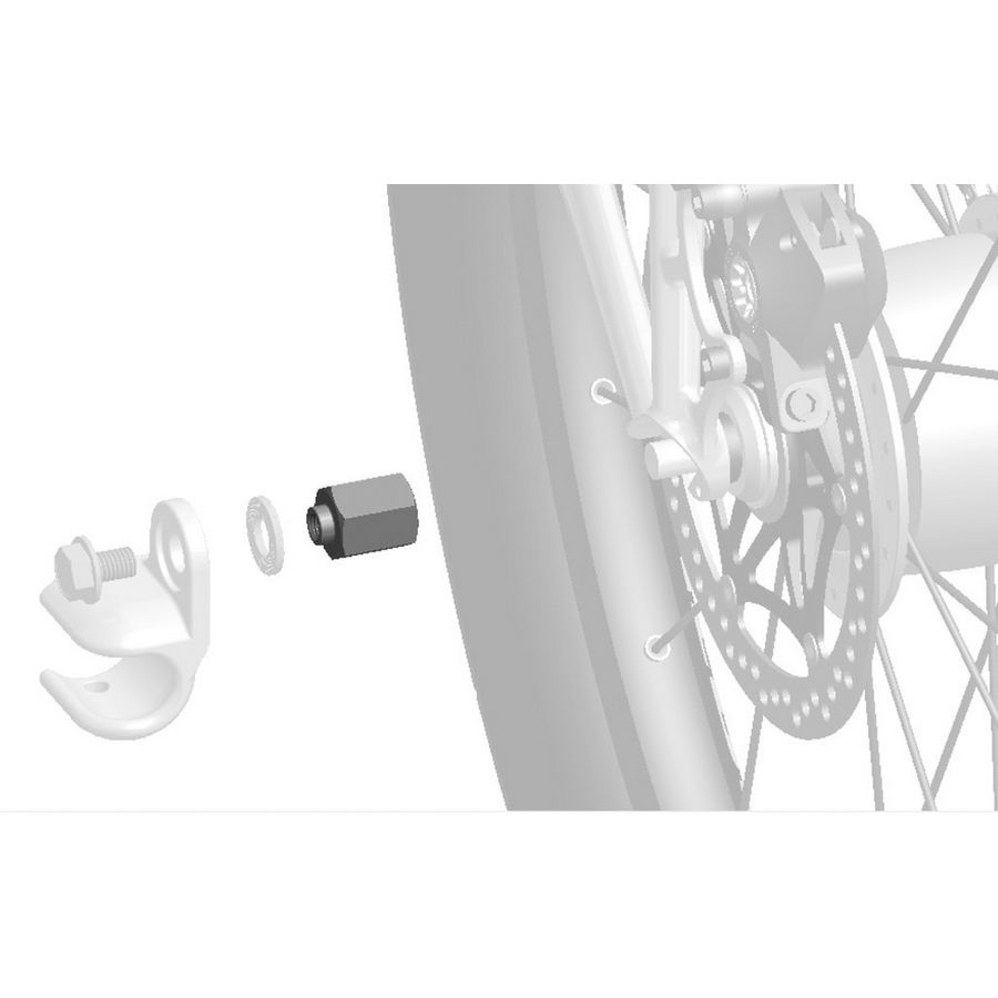 Trailer adapter for hub gear systems Sram Spectro FG 10,5x1,0