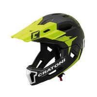 full face helmet detachable chin c-maniac 2.0 mx size s/m (52-56cm) lime yellow