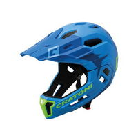full face helmet detachable chin c-maniac 2.0 mx size s/m (52-56cm) blue / lime blue