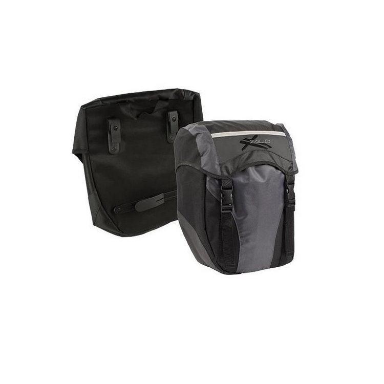 Pannier bag set BA-S40 waterproof  30L polyester 650D black / anthracite