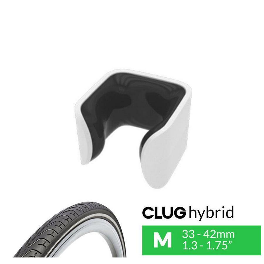 bike rack clug hybrid white / black