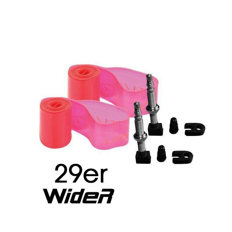 Kit Tubeless Mtb 29'' Plus wider flap 30mm + valvole Presta