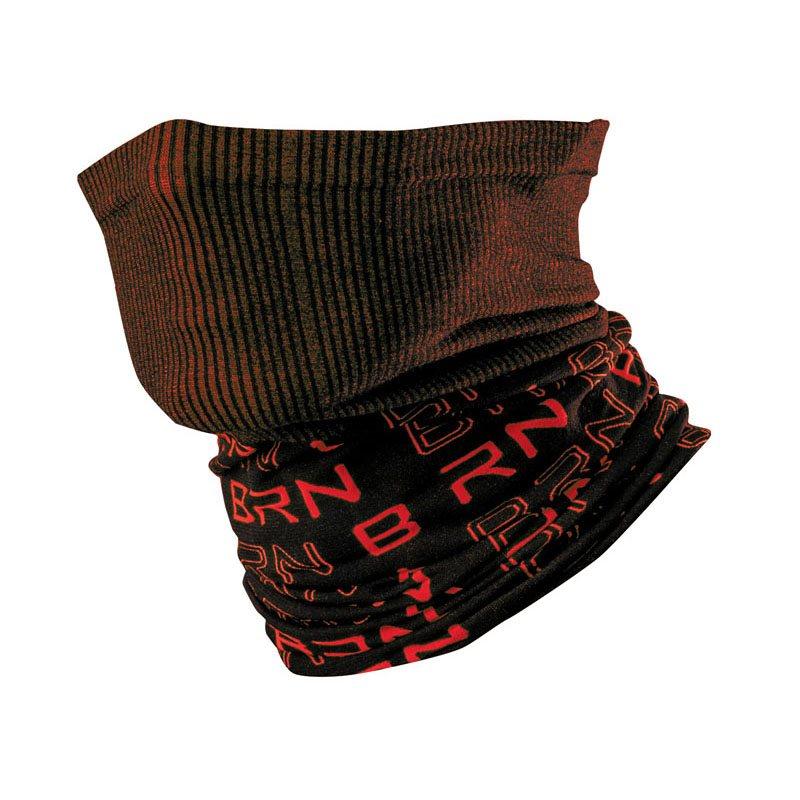 Tubo collo nero/rosso taglia unica