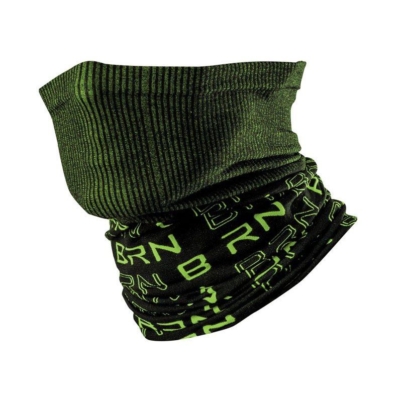 Tubo collo nero/verde fluo taglia unica