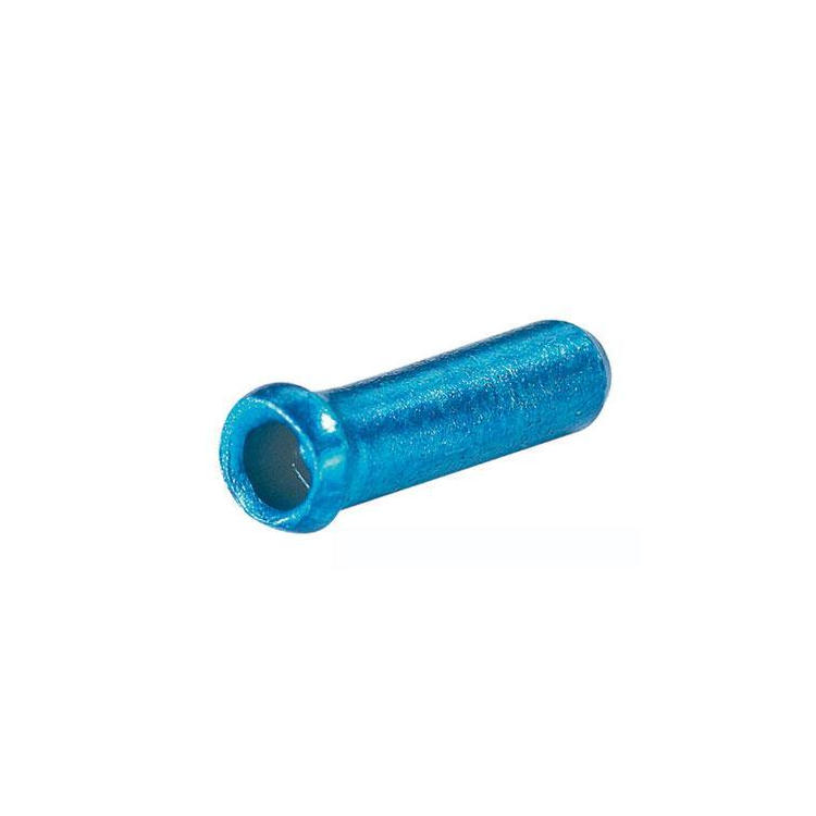 Terminale ø 2,3 mm per cavi freno in alluminio lucido blu