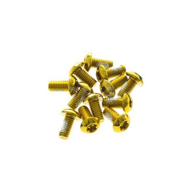 Kit brake disc screws Aro 08 gold (12pz)