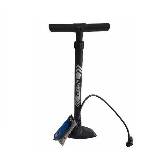 Floor pump for Presta and Schrader black/silver