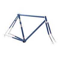 telaio corsa vintage in acciaio columbus taglia 53 blu  blu