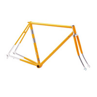 telaio corsa vintage in acciaio columbus taglia 53 giallo  giallo