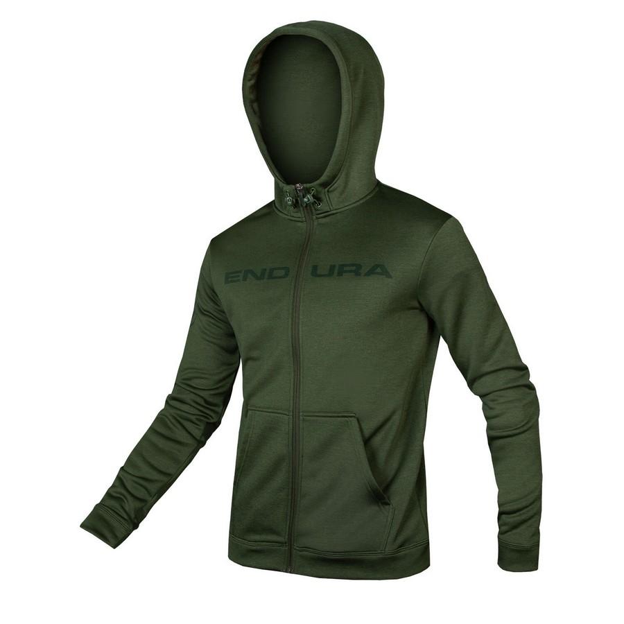 Hummvee Zip Up Hoodie Green Size XS