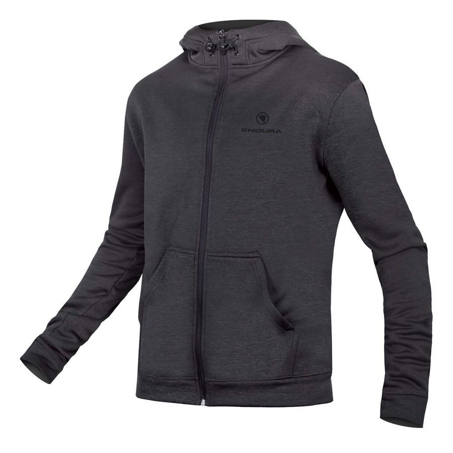 Hummvee Essential FZ Zip Up Hoodie Dark Grey Size XS