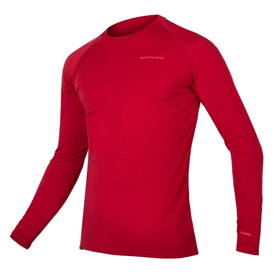 BaaBaa Blend Long Sleevesc Winter Baselayer Red Size S